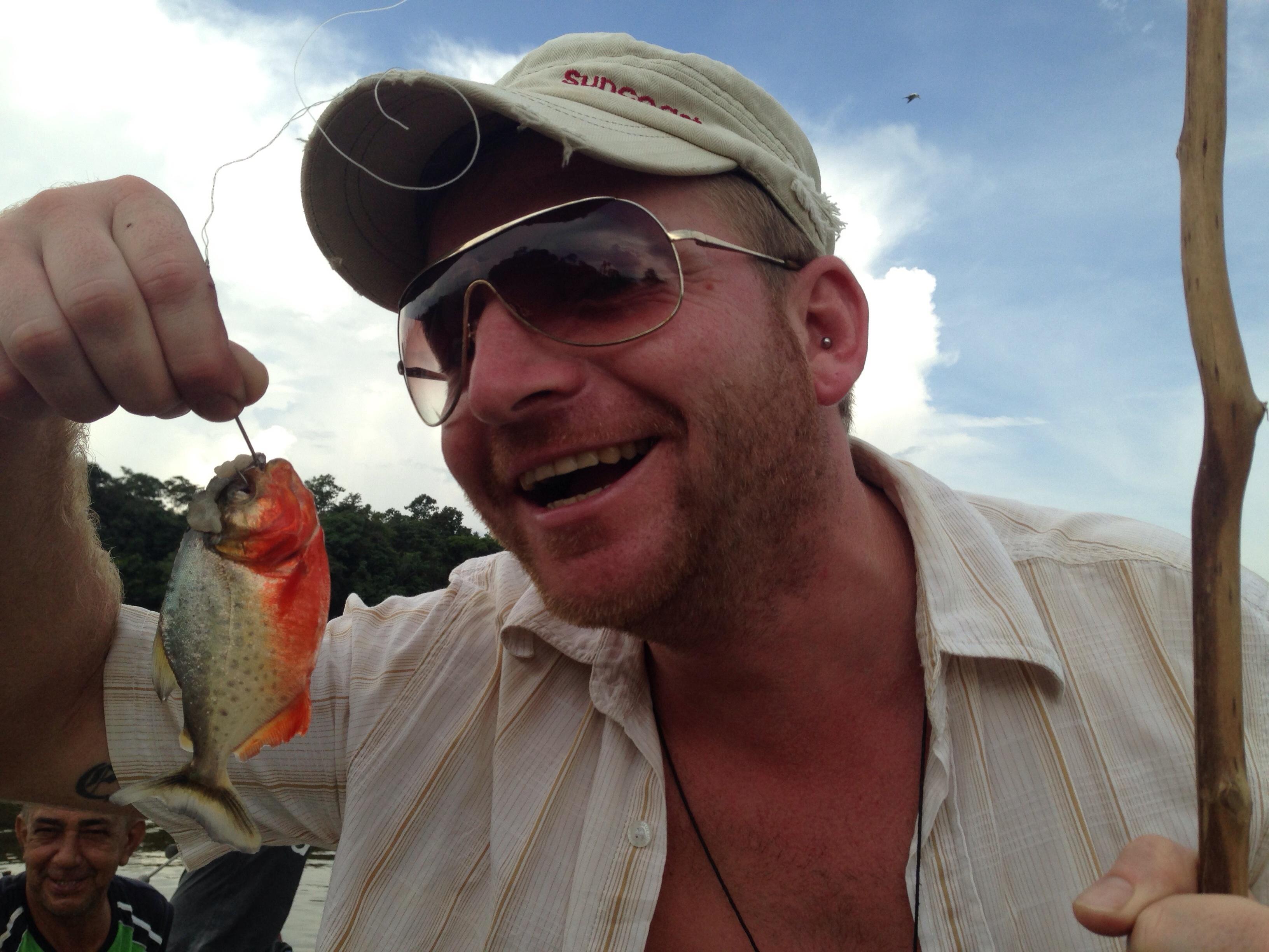 Rico Grünler mit seinem ersten Piranha